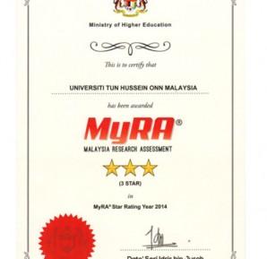 Malaysia Research Assessment (MyRA®) 2014
