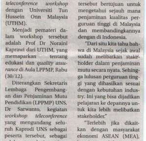 UTHM jalin kerjasama dengan Universitas Sebelas Maret (UNS) Surakarta