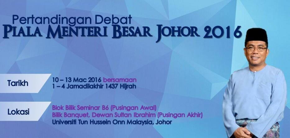 Debat Piala Menteri Besar Johor 2016