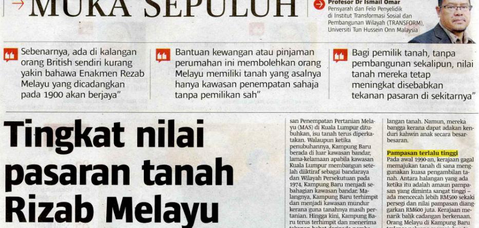 Tingkat Nilai Pasaran Tanah Rizab Melayu