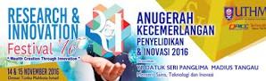 Festival dan Anugerah Kecemerlangan Penyelidikan & Inovasi 2016